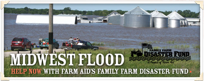 Willie Nelson's Farm Aid Disaster Fund, Helping Family Farmers Affected by Flooding in the Midwest