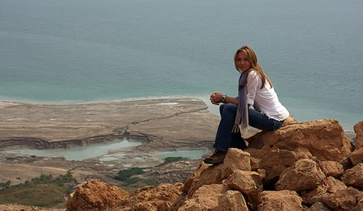Alexandra Cousteau at the Dead Sea