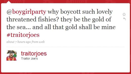 Traitor Joe's on Twitter