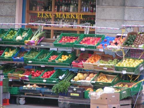 Produce shop in Basel Switzerland