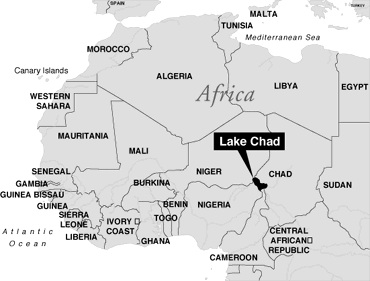 Lake Chad is the fourth largest lake in Africa