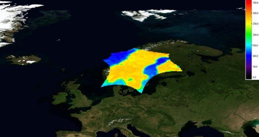 Brightness Temperature imaging from Scandanavia