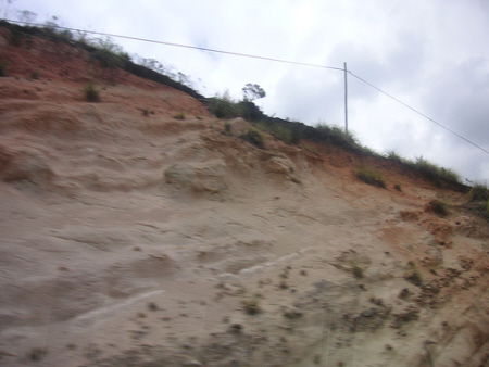 Eroded topsoil in Ecuador
