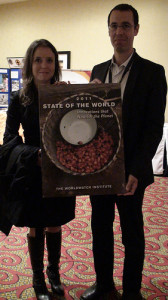 State of the World 2011 co-authors Danielle Nierenberg and Brian Halweil.