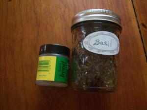 Quantity Comparison - .56 oz. Basil vs. 1 pint Basil