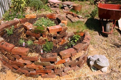 container garden herb spiral