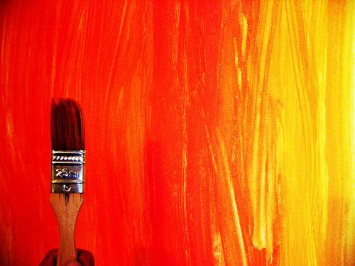 red orange and yellow pain