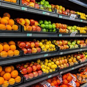 produce shelves
