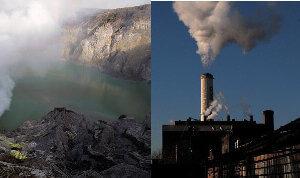 volcano smoke stack