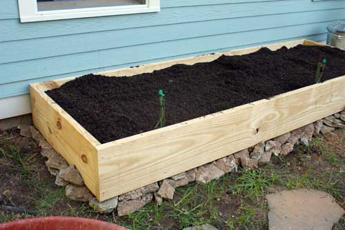 finishing id a touches diy planter large build picture bed garden of raised