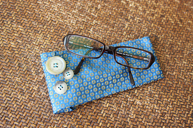 Finished DIY glasses case
