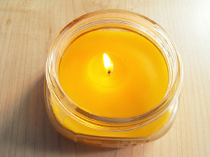 Beeswax Candle in a Jar