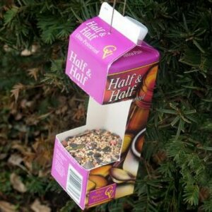 upcycled bird feeder