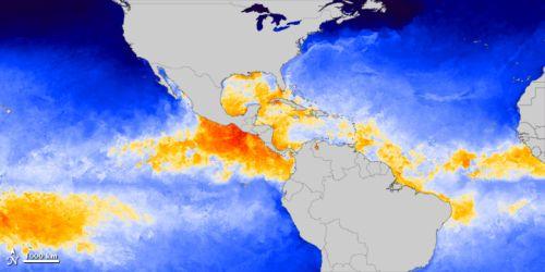 NASA Sea Surface Temperature Map 2012