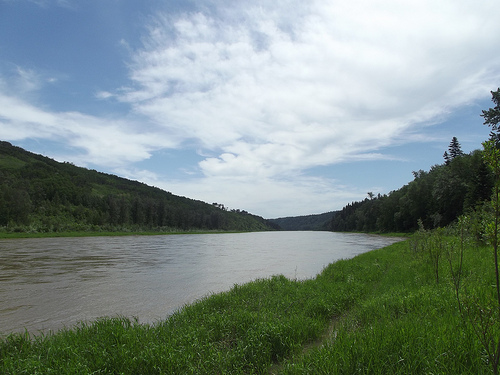 Red Deer River before the oil spill
