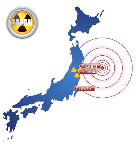 Map of Japan Fukushima Earthquake Tsunami