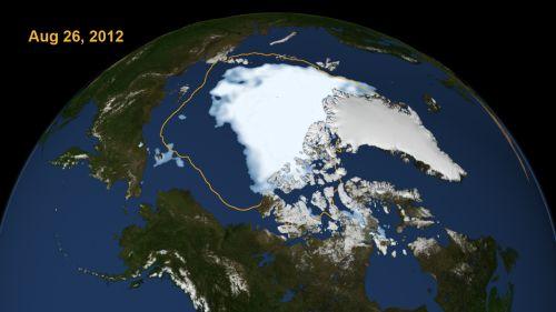 Arctic Sea Ice 26 Aug 2012
