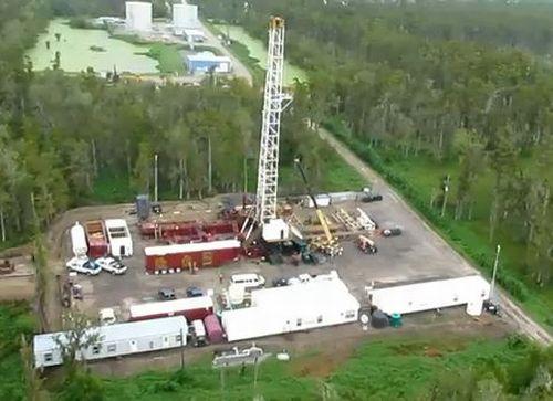 Louisiana Sinkhole Drilling Rig