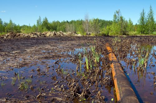 Oil Pollution from a Pipeline