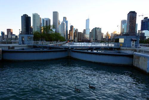 Chicago Lock and City Skyline