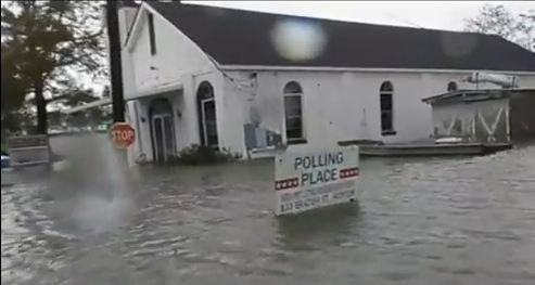 Louisiana church in the flood waters