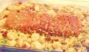 Unturkey Roast with Cornbread Stuffing