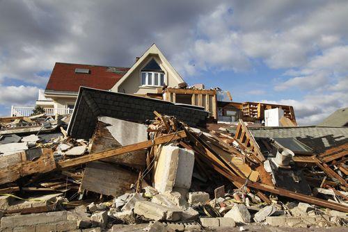 Hurricane Sandy damage in Far Rockaway, New York