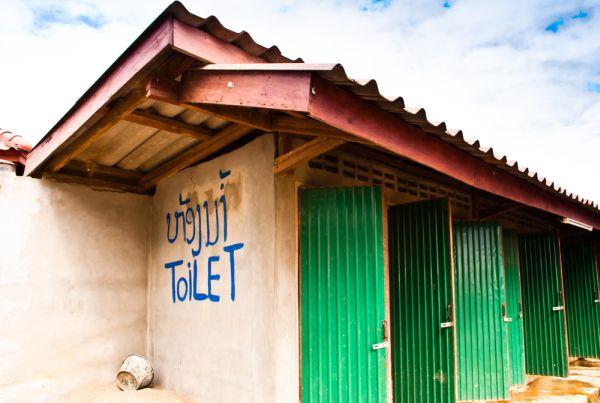 Bathroom in Laos