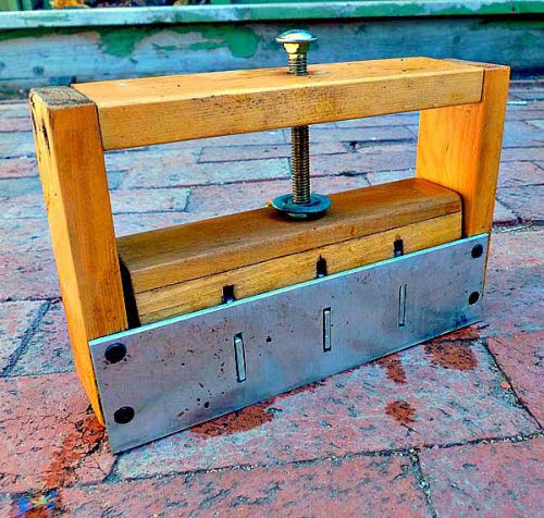 wooden diy soil block maker