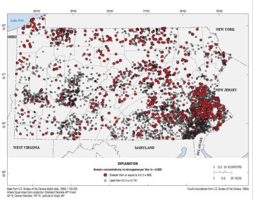 Arsenic in Pennsylvania Groundwater