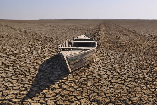 Boat Stranded in the Little Rann of Kutch