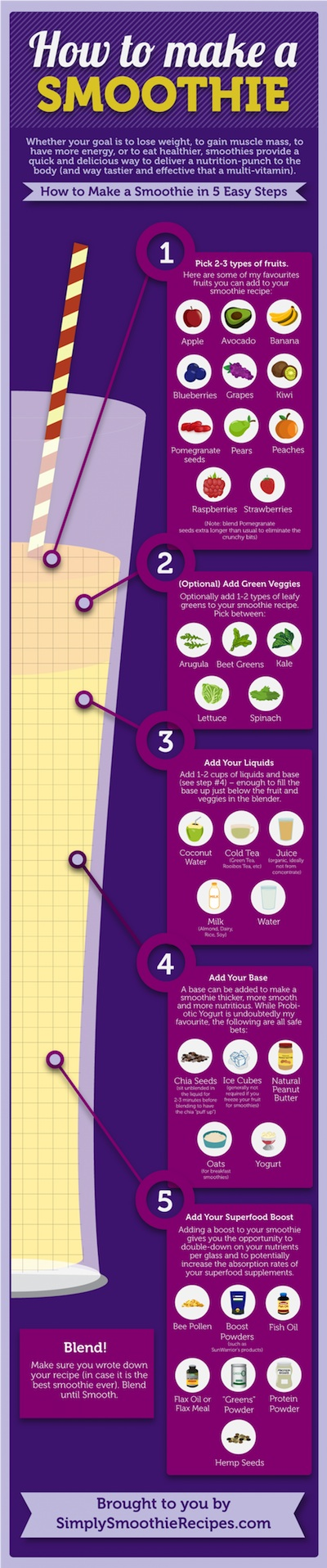 Smoothie Guide Infographic