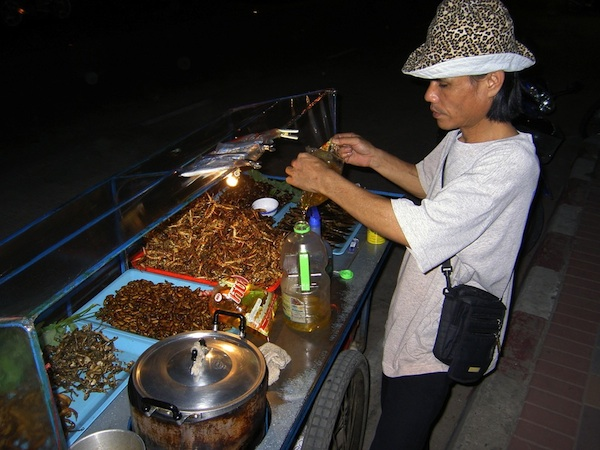 Man Selling Insects