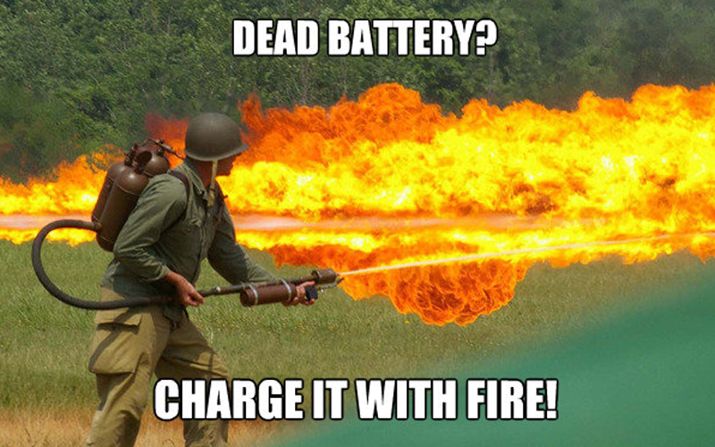 Charge Your Cell Phone with Fire