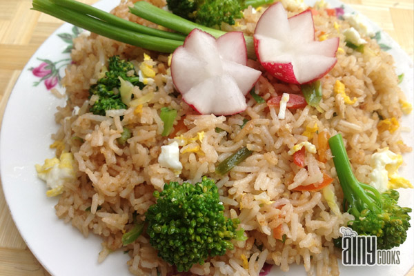 Broccoli Fried Rice for Two