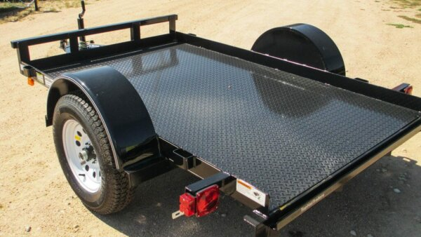 trailer without tear drop shape