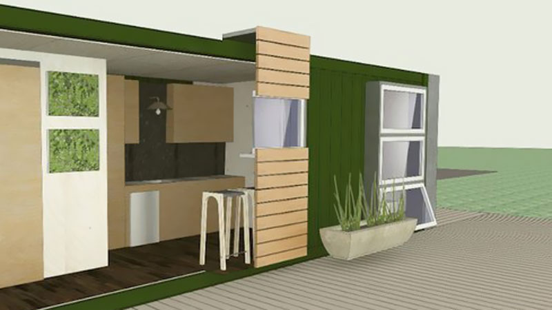 GM shipping container tiny house