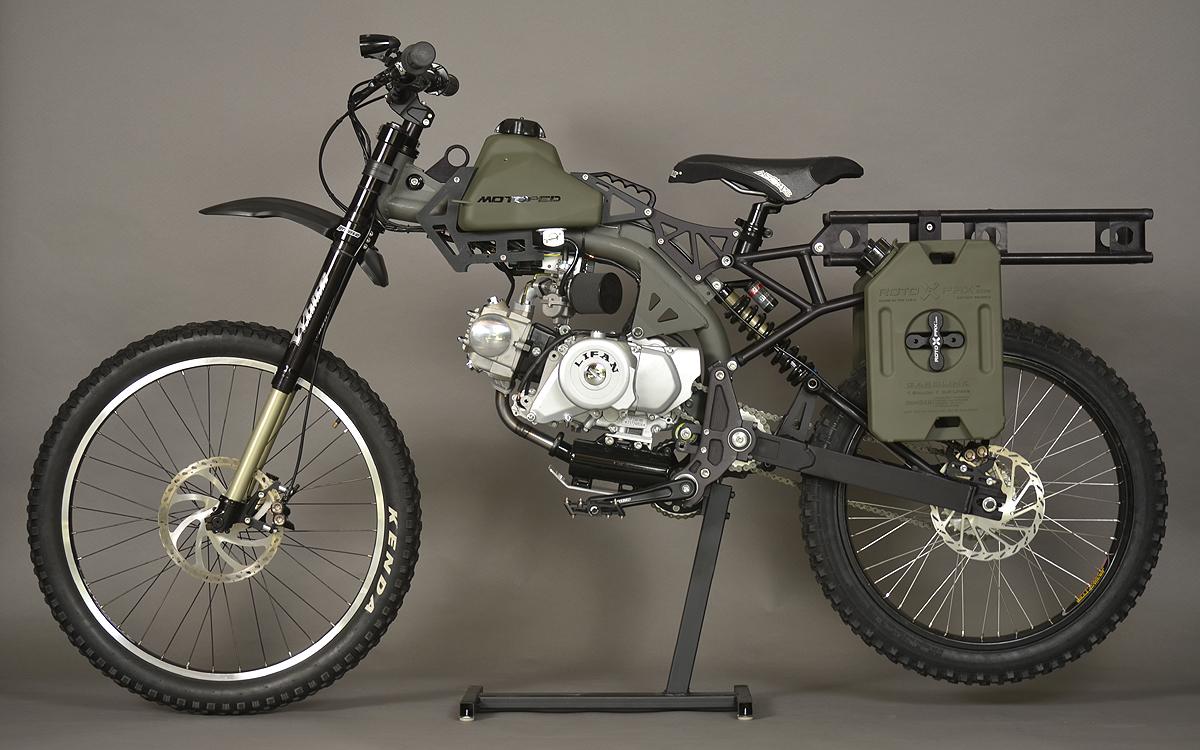 left side of motoped