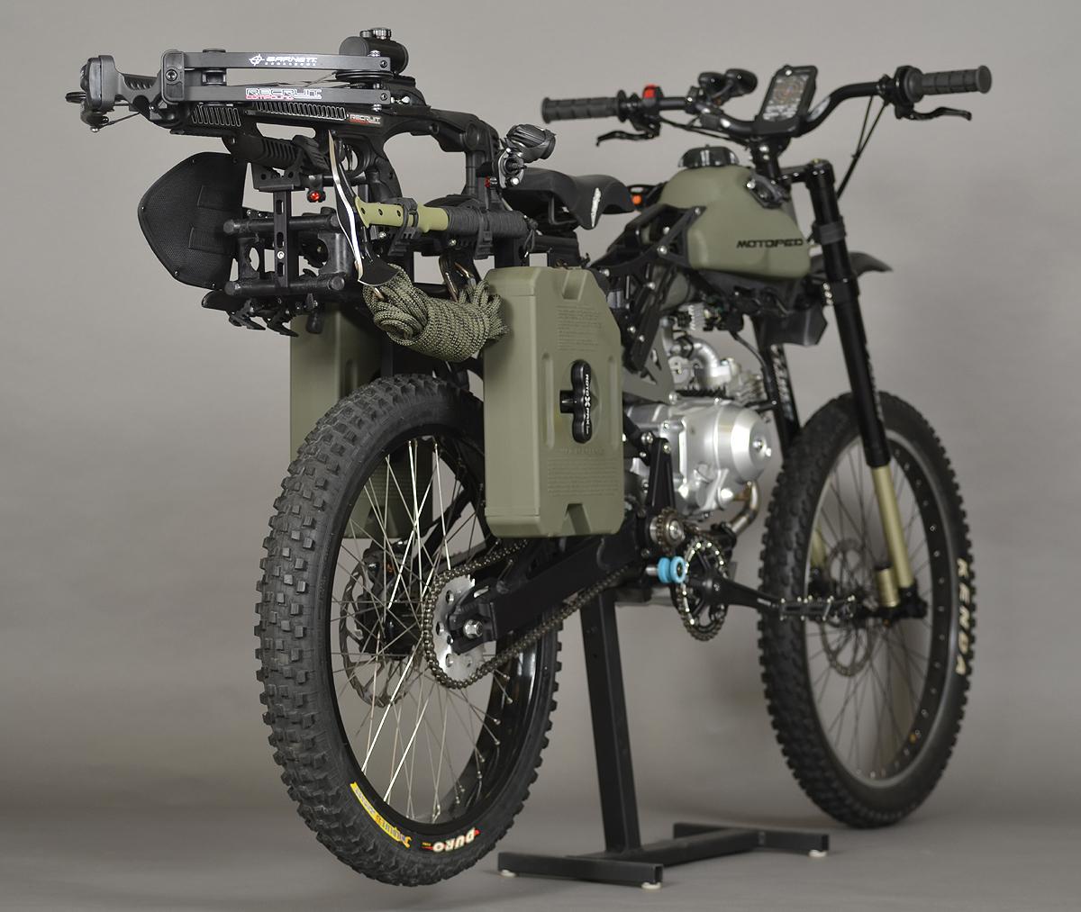 back side of motoped