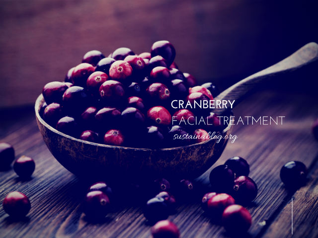 Cranberry homemade facial totally into