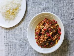 Chicken, Walnut & Pomegranate Stew Recipe