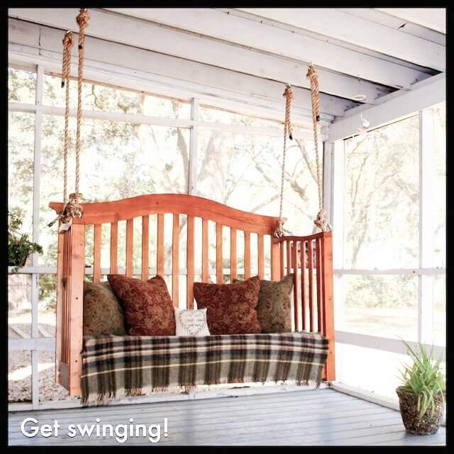 your new porch swing is ready to go