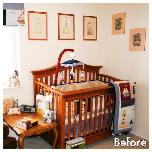 the crib before
