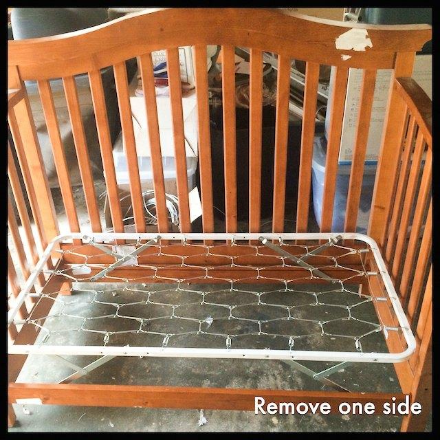 remove side of crib