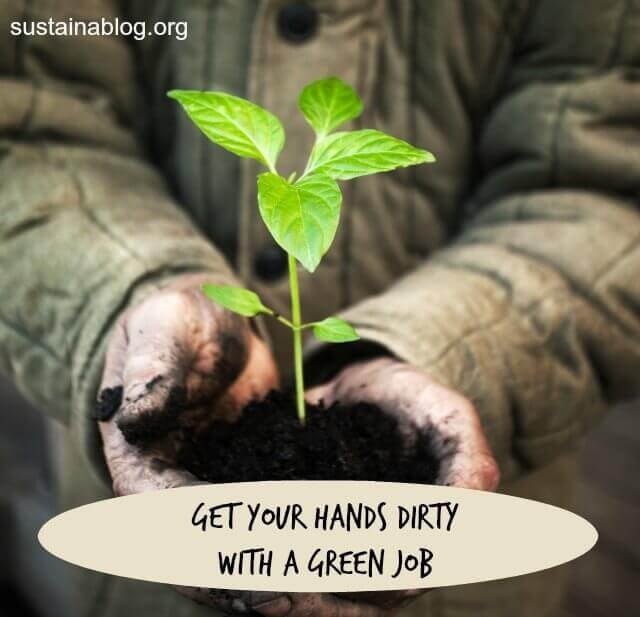 get your hands dirty with a green job