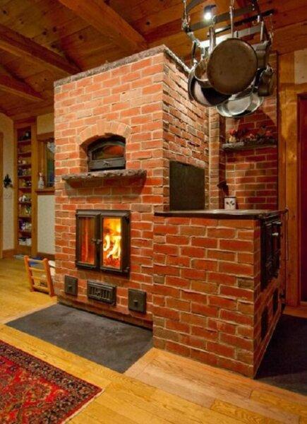 Clay Brick Stove : Masonry wood stoves insteading