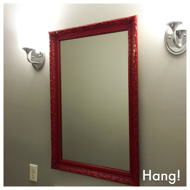 hang the new mirror