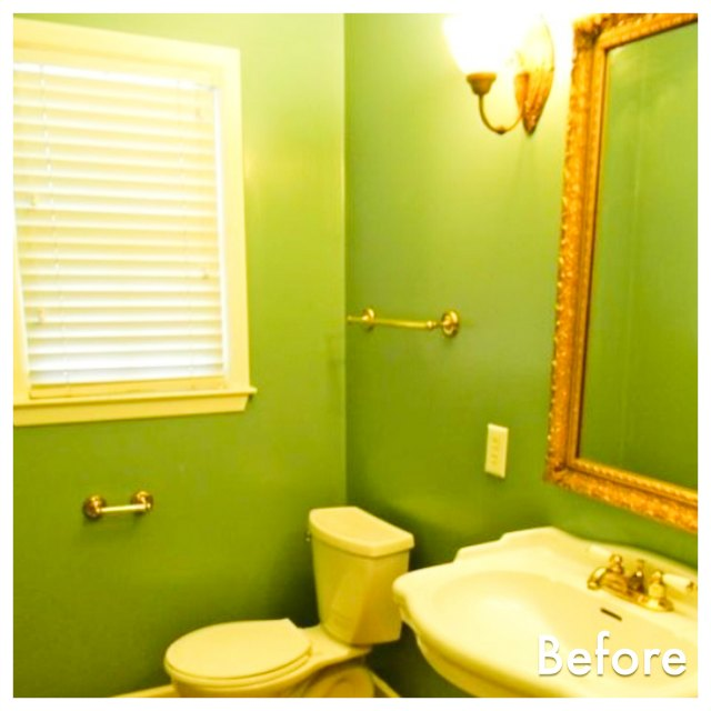 bathroom before mirror upcycling