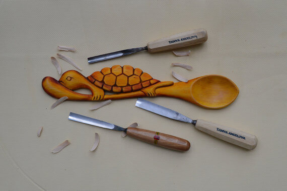 wooden spoons turtle