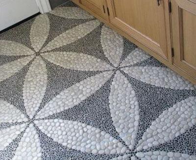 pebble mosaic floor